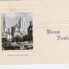 Postales: FELICITACIÓN NAVIDEÑA. BRASIL, AÑOS 60. Lote 145826338