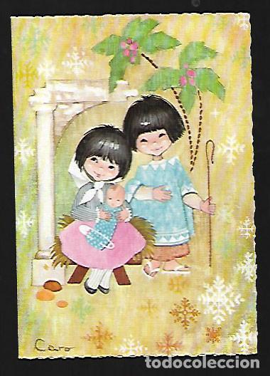 TARJETA NAVIDAD CARO * NACIMIENTO * 1967 ( 12 X 8,50) (Postales - Postales Temáticas - Navidad)