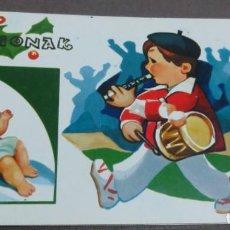 Postales: POSTAL DÍPTICO NAVIDAD ILUSTRADA POR LARRY 17X10 CM. SIN ESCRIBIR. Lote 146864318