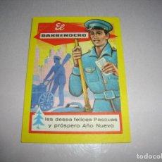 Postales: (TC-134) TARJETA FELICITACION NAVIDAD ORIGINAL EL BARRENDERO. Lote 147415098