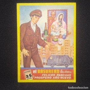El Basurero Felicitación Navidad 12 x 8 cm