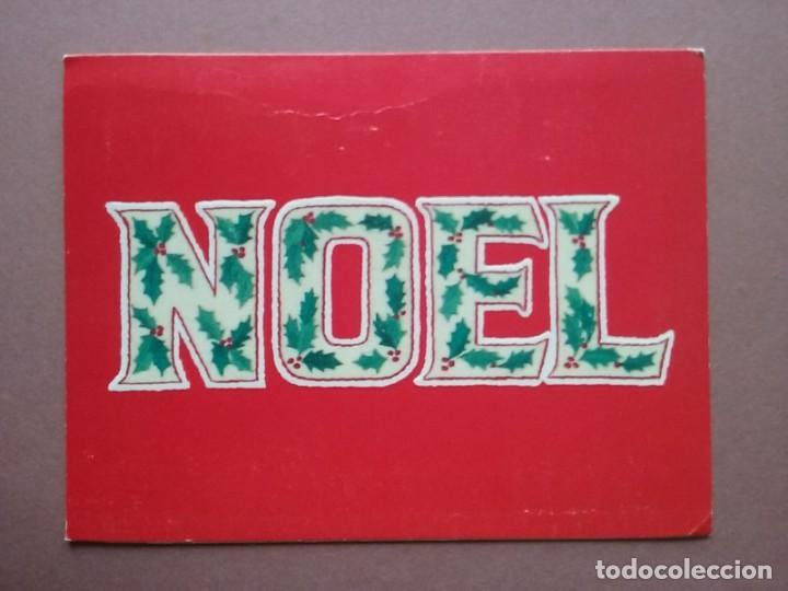 POSTAL NAVIDAD NOEL. FELICITACIONES DE AMÉRICA. IGSAL SIGMA. EL SALVADOR. DÍPTICA. ESCRITA EN 1980. (Postales - Postales Temáticas - Navidad)