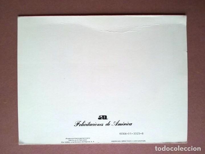Postales: POSTAL NAVIDAD NOEL. FELICITACIONES DE AMÉRICA. IGSAL SIGMA. EL SALVADOR. DÍPTICA. ESCRITA EN 1980. - Foto 3 - 147752770