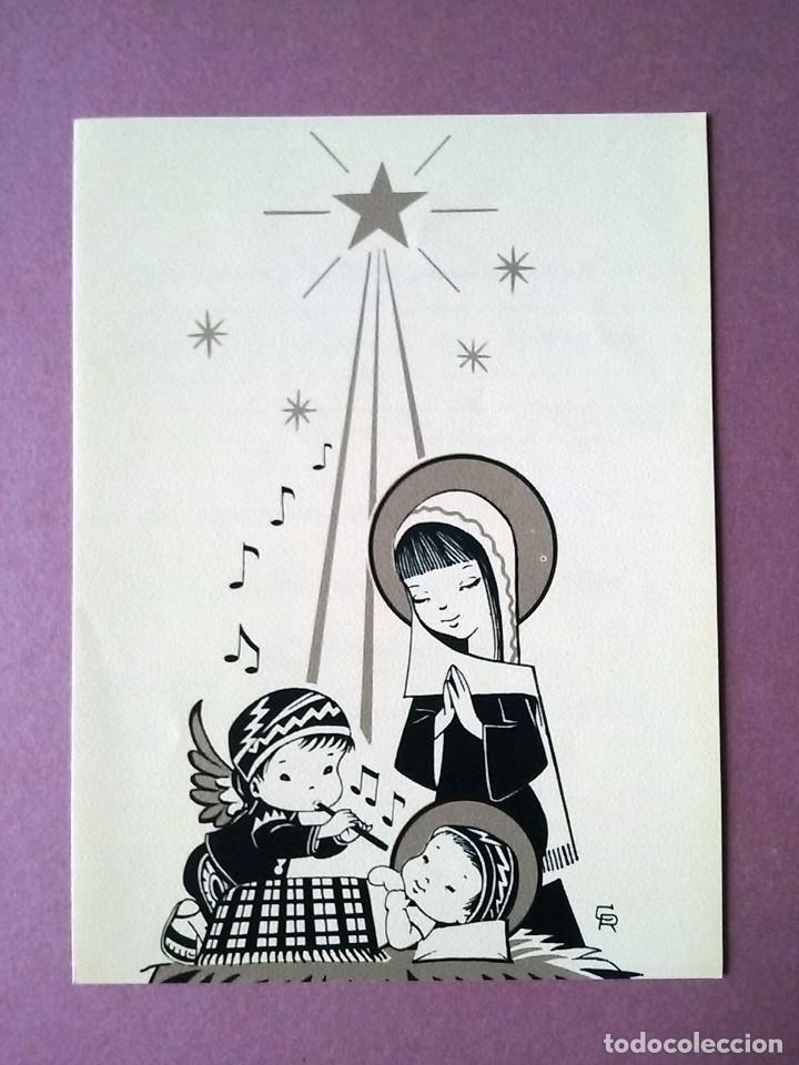 POSTAL NAVIDAD CR. LIBRERÍAS ARTEMIS Y EDINTER. DE LA RIVA HNOS. GUATEMALA. DÍPTICA. ESCRITA 1991. (Postales - Postales Temáticas - Navidad)
