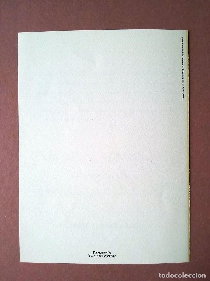 Postales: POSTAL NAVIDAD CR. LIBRERÍAS ARTEMIS Y EDINTER. DE LA RIVA HNOS. GUATEMALA. DÍPTICA. ESCRITA 1991. - Foto 3 - 147754350