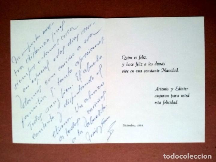 Postales: POSTAL NAVIDAD. LIBRERÍAS ARTEMIS Y EDINTER. DE LA RIVA HNOS. GUATEMALA. DÍPTICA. ESCRITA 1984. - Foto 2 - 147754862