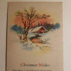 Postales: FELICITACION NAVIDAD INGLESA 1924. Lote 147911914