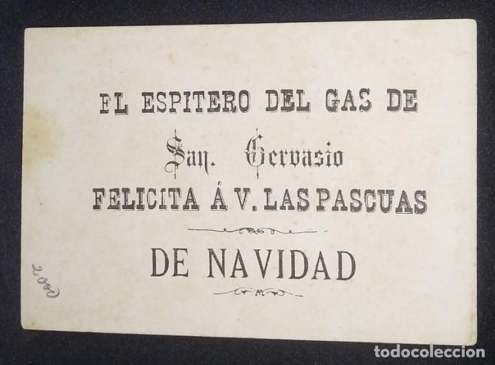 Postales: El espitero del gas de San Gervasio Felicitación de Navidad 10 x 7 cm. Le Goût Nº 19 - Foto 2 - 147999226
