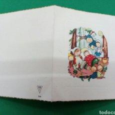 Postales: FELICITACIÓN DE NAVIDAD 1956 , 8X9.5CM. Lote 148415465