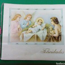 Postales: TARJETA DE FELICITACION NAVIDEÑA 1930 SIN USAR. Lote 148415877