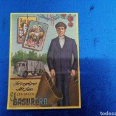Postales: FELICITACIÓN DE NAVIDAD DE EL BARRENDERO AÑOS 70. Lote 148975136