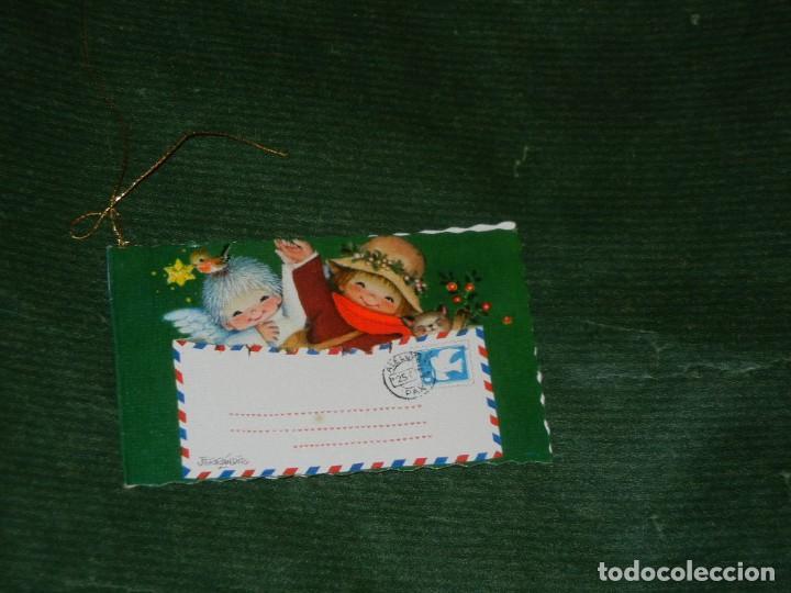 POSTAL NAVIDAD FERRANDIZ - DIPTICO 8,5X5CM ESCRITA 1974 (Postales - Postales Temáticas - Navidad)