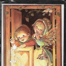 Postales: FELICITACION NAVIDAD CRISTINA * NIÑOS MIRANDO AL NIÑO * CON SOBRE/ FUNDA ORIGINAL ( 16,50 X 11,50). Lote 183296166