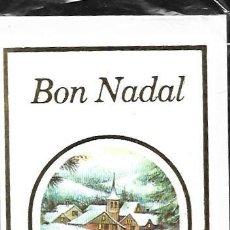 Postales: FELICITACION NAVIDAD * PAISAJE NEVADO *CON SOBRE Y FUNDA ORIGINAL -. Lote 151412449