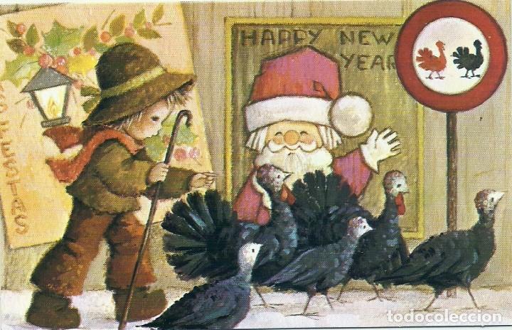 0879L - EDICIONES ORTIZ - DIPTICA 13X8,3 CM - ILUSTRA MARIA (Postales - Postales Temáticas - Navidad)
