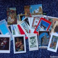 Postales: LOTE 42 TARJETAS POSTALES ORIGINAL PINTADO CON LA BOCA ORIGINAL PINTADO CON EL PIE SIN CIRCULAR. Lote 153026666