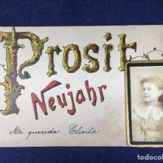 Postales: ANTIGUA TARJETA POSTAL PROSIT NEUJAHR FELIZ AÑO NUEVO NAVIDAD 29 DICIEMBRE 1894 BARCELONA. Lote 153905842