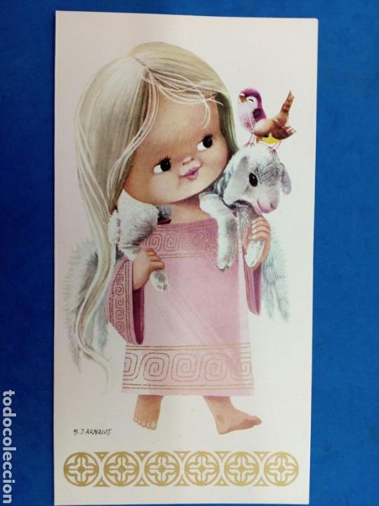 Postales: 4 Postales Navideñas , M.J.Arnalot , años 1960-70 - Foto 3 - 154327209