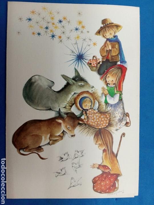 Postales: Postal Navidad , Roser Puig , Ediciones Sabadell , año 1969 - Foto 3 - 155216965