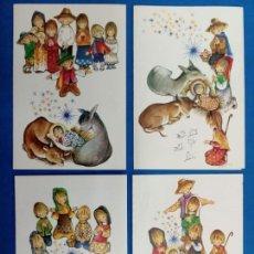 Postales: POSTAL NAVIDAD , ROSER PUIG , EDICIONES SABADELL , AÑO 1969. Lote 155216965
