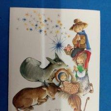 Postales: POSTAL NAVIDAD , ROSER PUIG , EDICIONES SABADELL , AÑO 1969. Lote 155286869