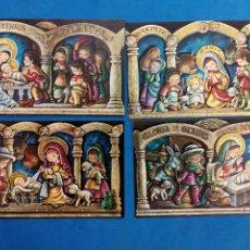 Postales: LOTE 4 POSTALES NAVIDAD , M.ROSA , CYZ , AÑO 1969. Lote 155302353