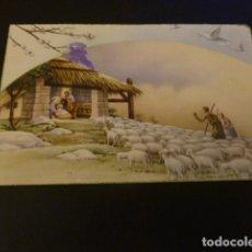 Postales: FELICITACION NAVIDAD ADORACION DE LOS PASTORES POSTAL 1953. Lote 155632362