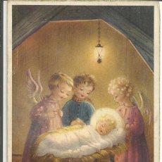 Postales: POSTAL NAVIDAD ED. ANCLA 2034 - ANGELES MIRANDO AL NIÑO JESÚS. Lote 155647290