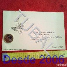 Postales: TUBAL 1967 POSTAL FELICITACION NAVIDAD MAS ALBORNA. Lote 156324766