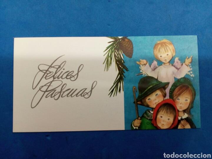 Postales: Lote 4 Postales ,Navidad , Roser Puig , Ediciones Sabadell , año 1970 - Foto 3 - 156546988