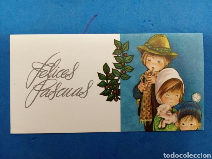 Postales: Lote 4 Postales ,Navidad , Roser Puig , Ediciones Sabadell , año 1970 - Foto 2 - 156546988