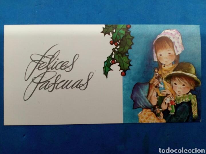 Postales: Lote 4 Postales ,Navidad , Roser Puig , Ediciones Sabadell , año 1970 - Foto 4 - 156546988
