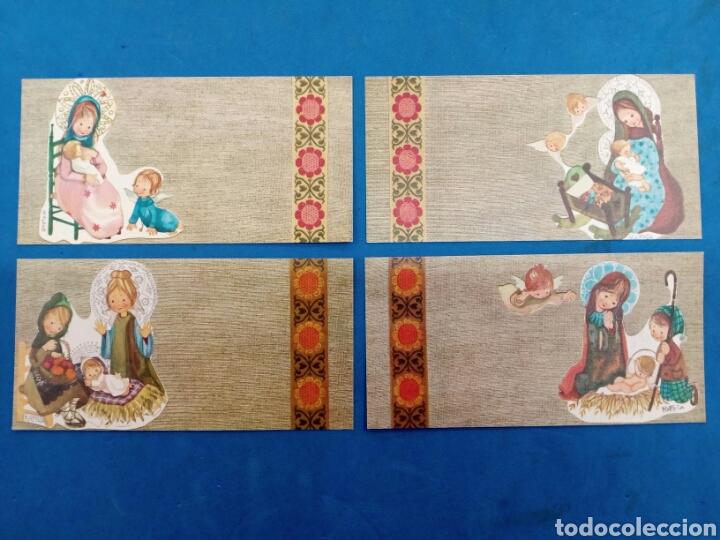 LOTE 4 POSTALES NAVIDAD , RAFELA ,EDICIONES SABADELL , AÑO 1969 (Postales - Postales Temáticas - Navidad)