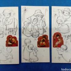 Postales: LOTE POSTAL NAVIDAD , MARTA RIBAS ?,. EDICIONES SABADELL, AÑO 1968. Lote 156609233