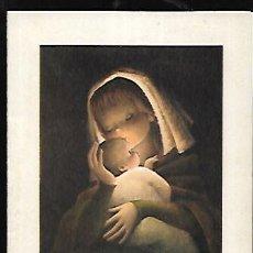 Postales: FELICITACION NAVIDAD FERRÁNDIZ * LA VIRGEN CON EL NIÑO * 1961 ( 13,50 X 11 ). Lote 156637746