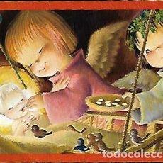 Postales: FELICITACION NAVIDAD FERRÁNDIZ * ANGELITOS CON EL NIÑO * 1963 ( 14 X 11 ). Lote 156638262