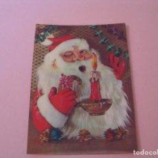 Postales: POSTAL DE NAVIDAD, PAPA NOEL. 3D. ESCRITA.. Lote 156727694