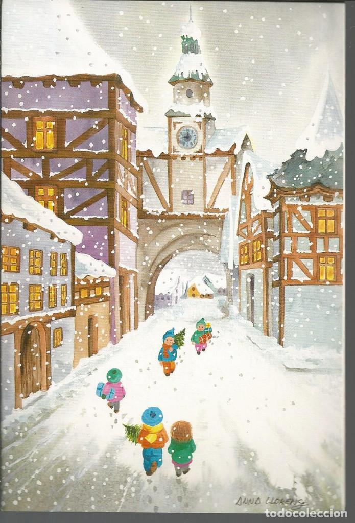 POSTAL NAVIDAD *ANNA LLORENS* - SUBI 19637-2 - DIPTICA 17X11.5 CM (Postales - Postales Temáticas - Navidad)