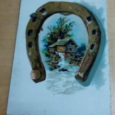 Postales: POSTAL DÍPTICO NAVIDAD AÑO 1892 13X9 CM.. Lote 158213458