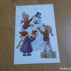 Postales: MUÑECO DE NIEVE -- RUTH CHRISTENSEN -- CHRISTMAS -- ASOCIACIÓN PINTORES CON BOCA Y PIE. Lote 158279970
