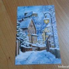 Postales: PUEBLO NEVADO -- STANISLAW KMIECIK -- CHRISTMAS -- ASOCIACIÓN PINTORES CON BOCA Y PIE. Lote 158281194