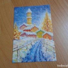 Postales: ALDEA EN NAVIDAD -- BRUNO CARATI -- CHRISTMAS -- ASOCIACIÓN PINTORES CON BOCA Y PIE. Lote 158285114