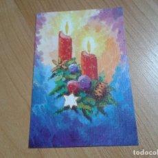 Postales: VELAS DE NAVIDAD -- CHRISTMAS -- ASOCIACIÓN PINTORES CON BOCA Y PIE. Lote 158286466