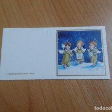 Postales: MINI POSTAL -- CHRISTMAS -- DIPTICO -- PINTADO CON LA BOCA -- ASOCIACIÓN PINTORES CON BOCA Y PIE. Lote 158381666