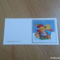 Postales: MINI POSTAL -- CHRISTMAS -- DIPTICO -- PINTADO CON LA BOCA -- ASOCIACIÓN PINTORES CON BOCA Y PIE. Lote 158381914