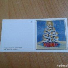 Postales: MINI POSTAL -- CHRISTMAS -- DIPTICO -- PINTADO CON LA BOCA -- ASOCIACIÓN PINTORES CON BOCA Y PIE. Lote 158382578
