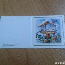 Postales: MINI POSTAL -- CHRISTMAS -- DIPTICO -- PINTADO CON LA BOCA -- ASOCIACIÓN PINTORES CON BOCA Y PIE. Lote 158382714