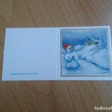 Postales: MINI POSTAL -- CHRISTMAS -- DIPTICO -- PINTADO CON LA BOCA -- ASOCIACIÓN PINTORES CON BOCA Y PIE. Lote 158382794