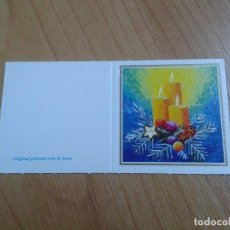 Postales: MINI POSTAL -- CHRISTMAS -- DIPTICO -- PINTADO CON LA BOCA -- ASOCIACIÓN PINTORES CON BOCA Y PIE. Lote 158382966