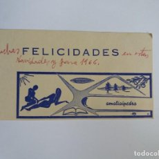 Postales: TARJETA POSTAL - 1965 NAVIDADES - AMALIAIPEDRO - ALICANTE SANTAPOLA. Lote 158438242
